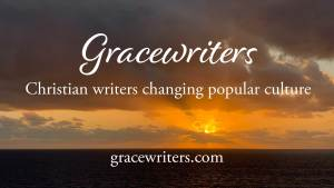 Sunrise image with text: Gracewriters, Christian writers changing popular culture