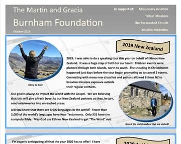 November Foundation Letter
