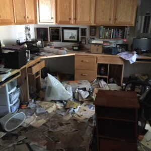 Another shot of Gracia Burnham's Office aftermath