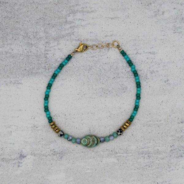 Armband - Gorgeous Green Monet - GraciArt