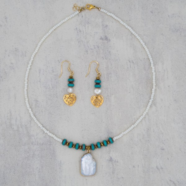 Set Turquoise Pearl