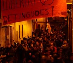 Manifestació en defensa espais alliberats