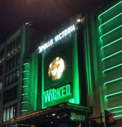 We watched Wicked at the Apollo Victoria theatre which was SOOO GOOD!