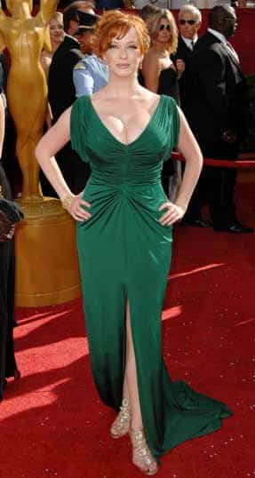 Christina Rene Hendricks - The Plus Size Woman Who Knows How To Dress - green dress red carpet