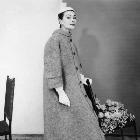 Impecable Abrigo De Tweed de 1954