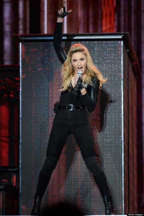 Madonna fashion icon - catsuit 2012 summer tour