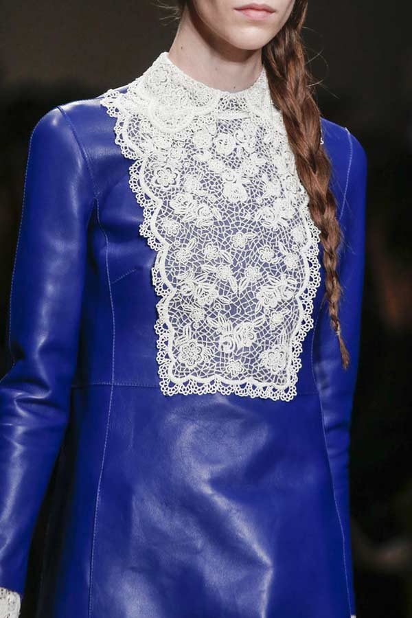 Valentino Blue Leather Dress winter 2013