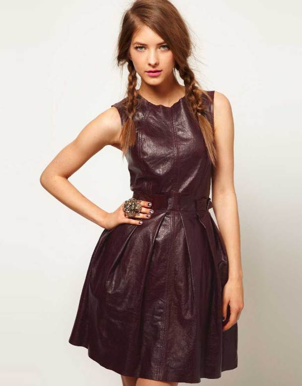 ASOS blood Ox Leather Dress 2013