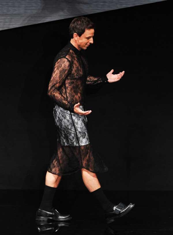 seth-meyers,-wearing-lace-dresses