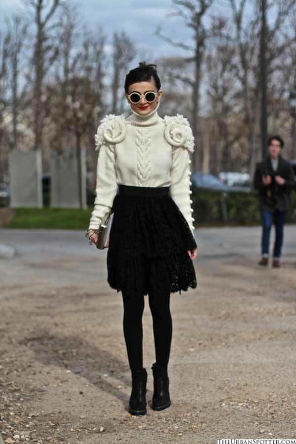 white sweater for women