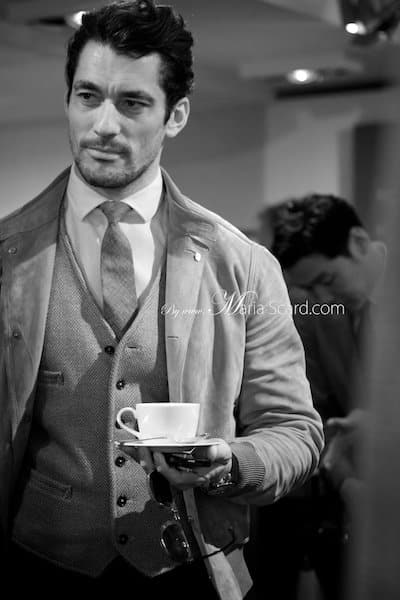 Davdi Gandy - Drinking Coffee at London Collections Men