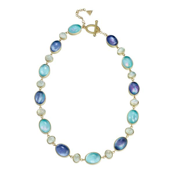 AC NEBO TURQUOISE LAPIS CRYSTALS WHITE MOONSTONE YELLOW GOLD