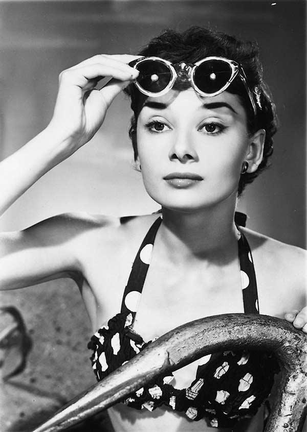 Audrey Hepburn - Vintage Swimwear Vintage glasses