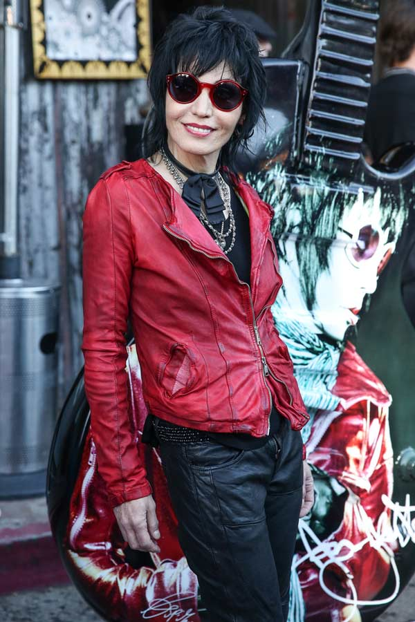 Joan Jett -Wearing a red leather jacket
