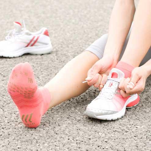 Tabio running race socks