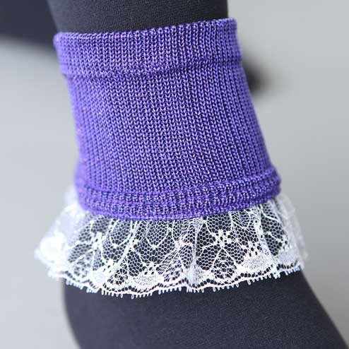 Tabio sparkly lace ankle bands