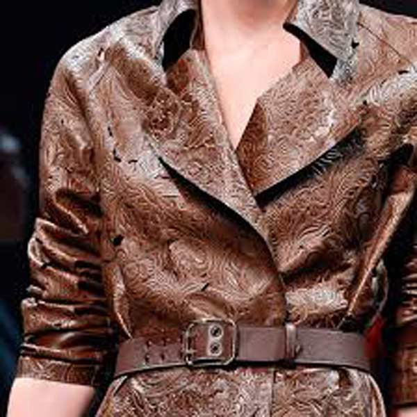 LOEWE Madrid - Leather lace dresses& Coat brown