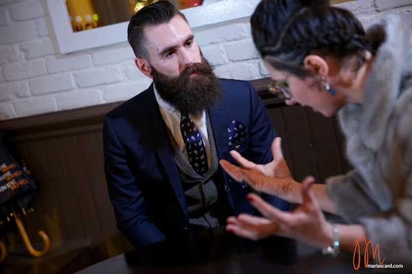 Ricki-Hall-Beards-and-Tattoo-Male-Model Gracie OPulanza wearing Miu Miu 10NS Sunglasses (5)