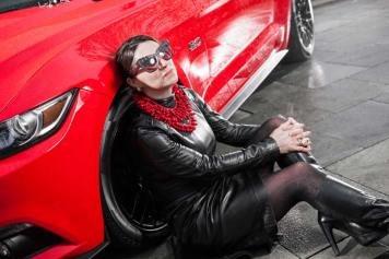 Ford Mustang GT V8 Gracie Opulanza fendi, leather dress 2015 (7)