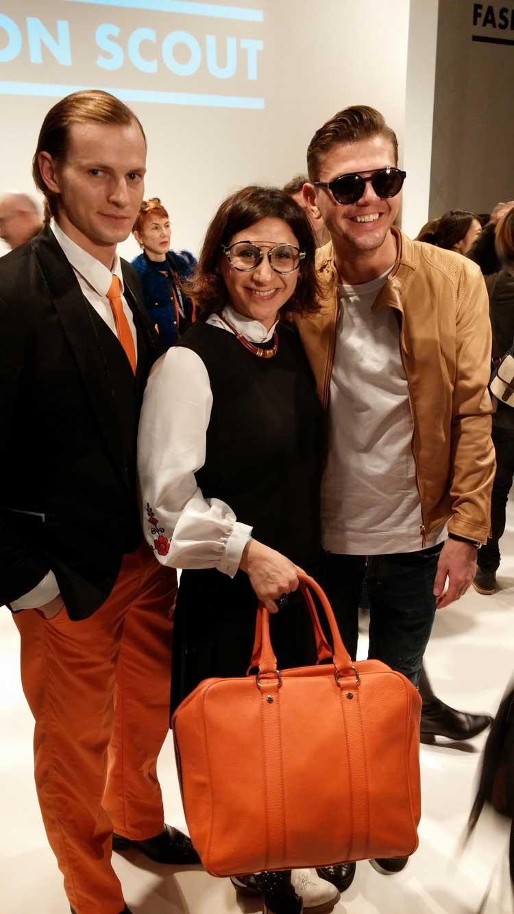 gracie Opulanza London Fashion Week 2015 wearing Prada dress