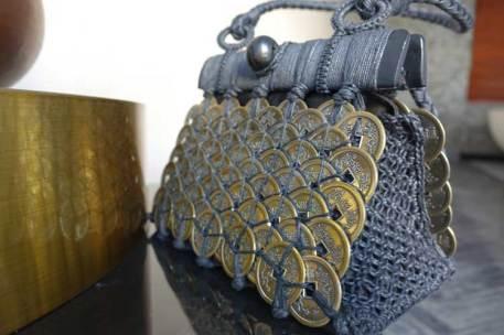 Bali coin metal bespoke fabric purse bag gracie opulanza (2)