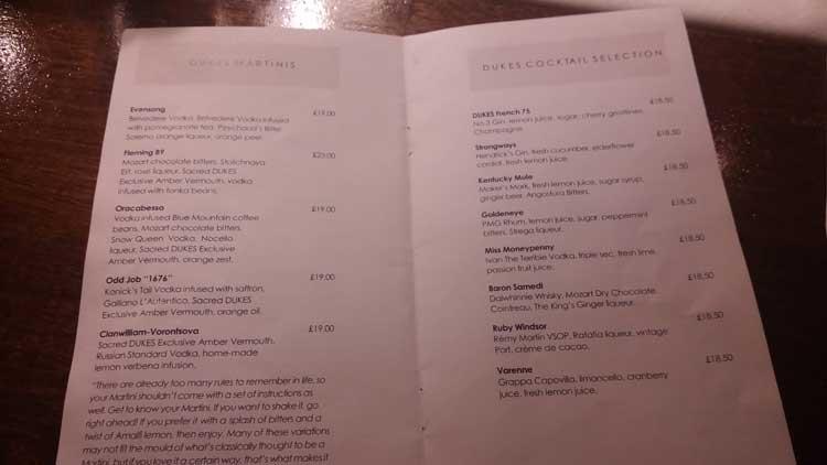 Dukes Hotel London Mayfair Gracie Opulanza Martini Bar (4)