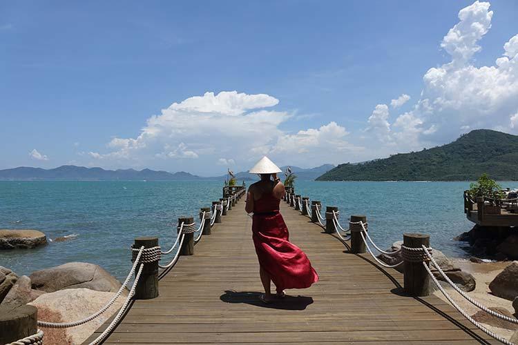 Metiseko Vietnam – Red Dao Silk Maxi Dress