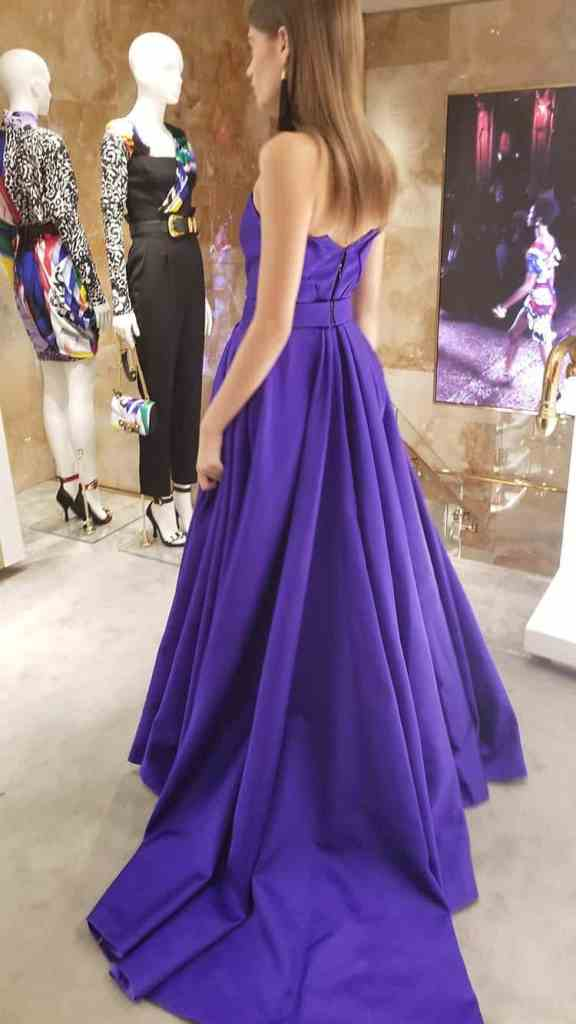Versace purple vintage dress