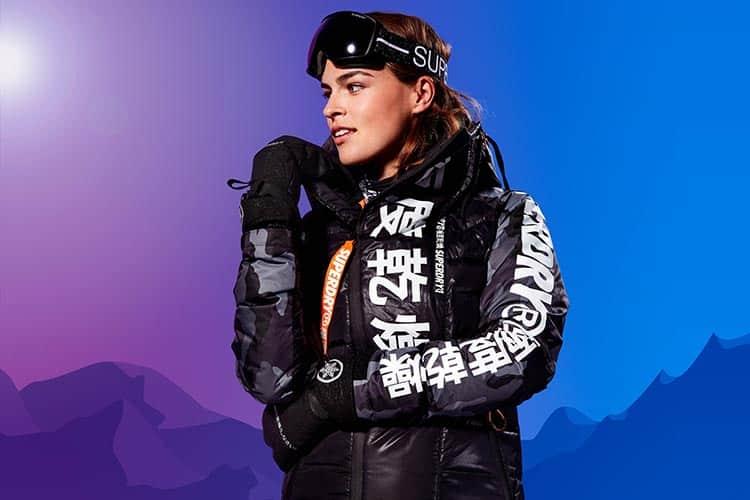 Superdry Women's Snow Black Ski Down Jacket