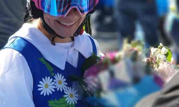 Frida Hansdotter – Last Descent Dressed In Typical Swedish Costume