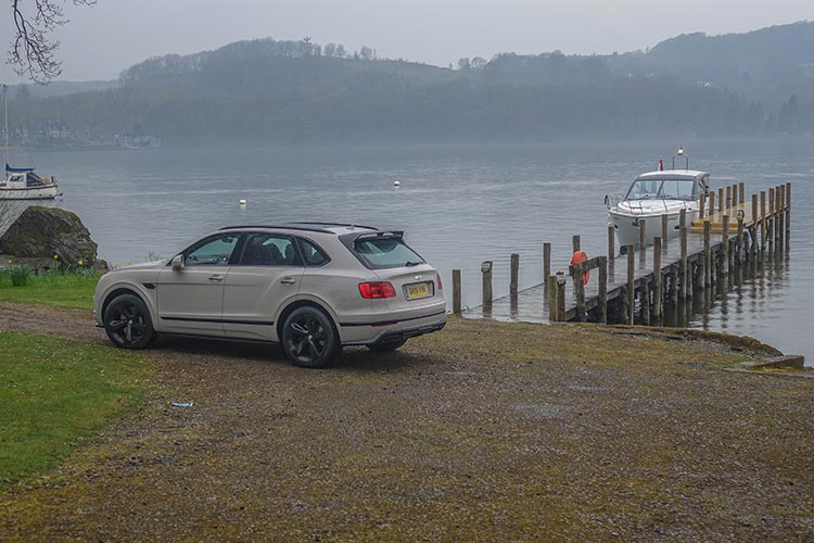 Bentley Bentayga SUV V8 Storrs Hall Lake