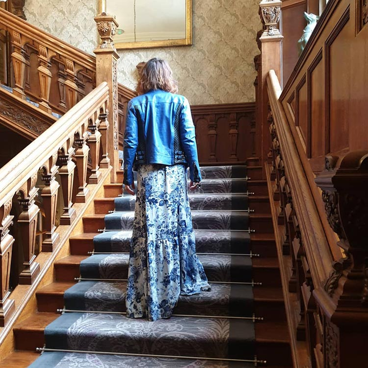 Gracie Opulanza Benheart Leather Jacket Florence Italy Bovey Castle
