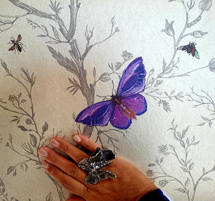 Gracie Opulanza Butterfly silver bespoke ring