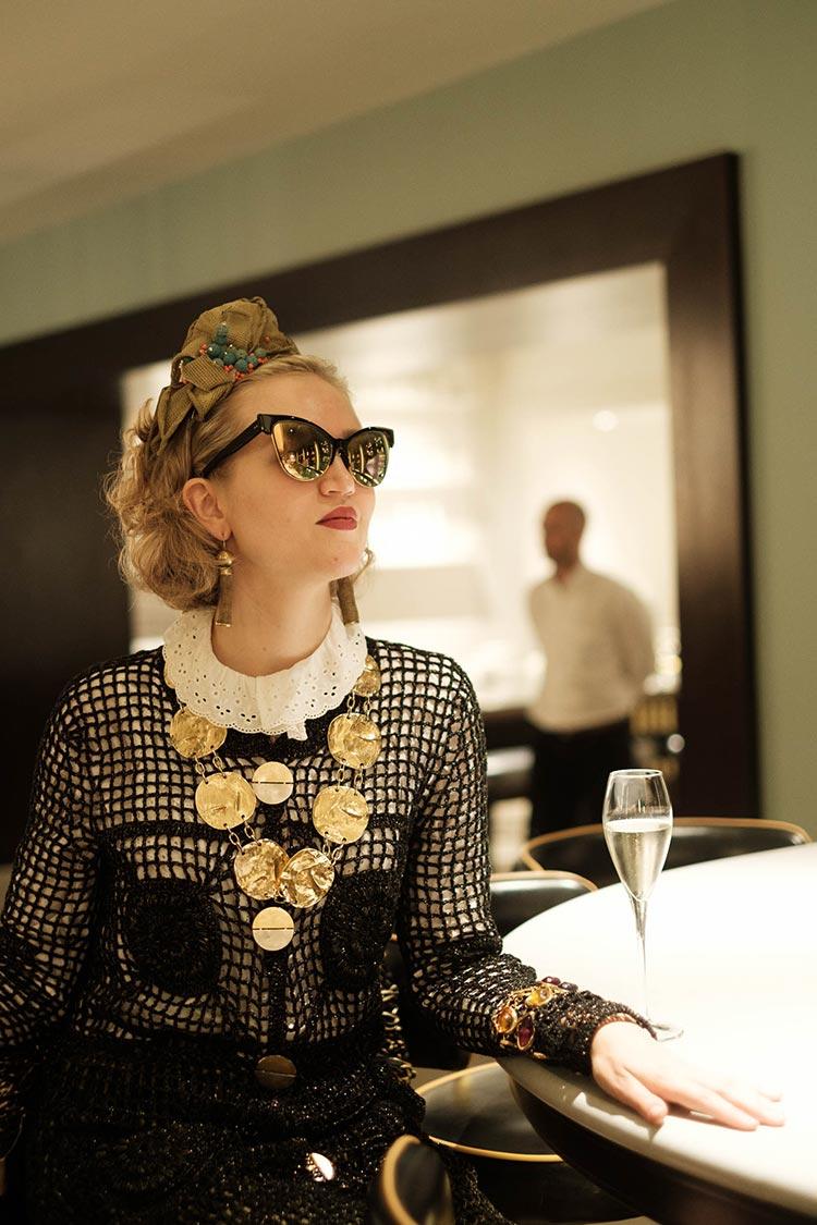 MIHAELA MARKOVIC 2019 Knitwear Black Strand Palace Hotel London Unite