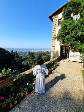 Maxi White dress Belmond San Michele Florence Italy Gracie Opulanza 2020 (2)