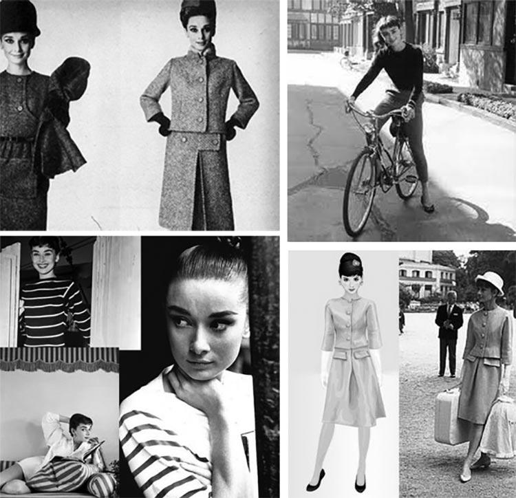 Audrey Hepburn casual style