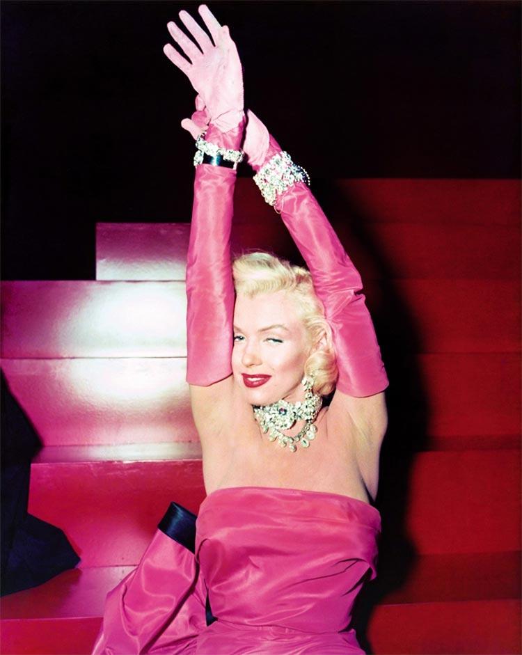 Marilyn gentlemen prefer blondes pink dress