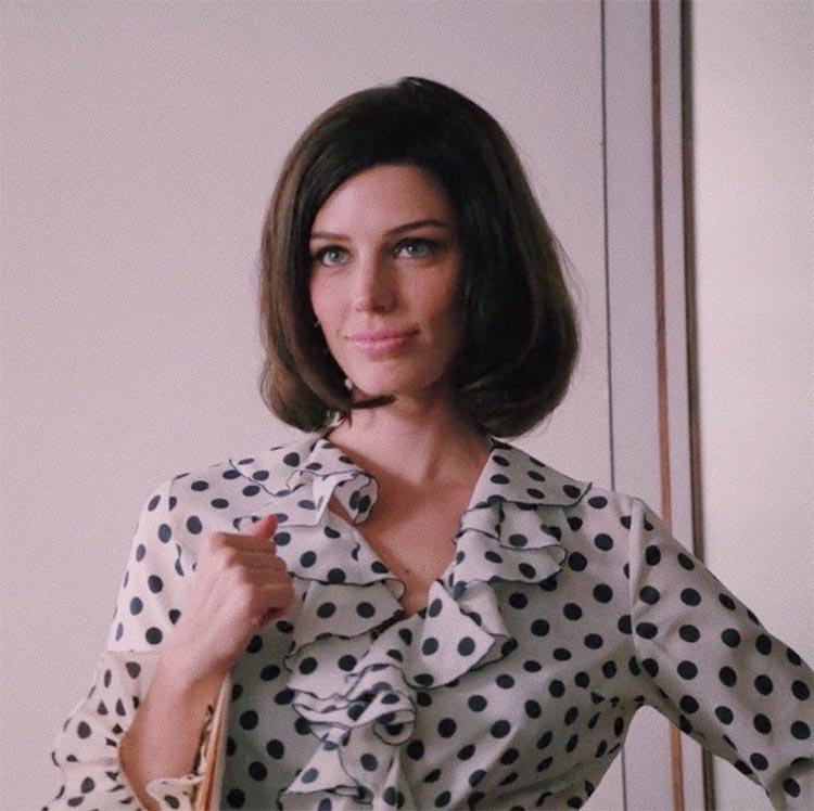 Megan draper polka dot blouse vintage mad men