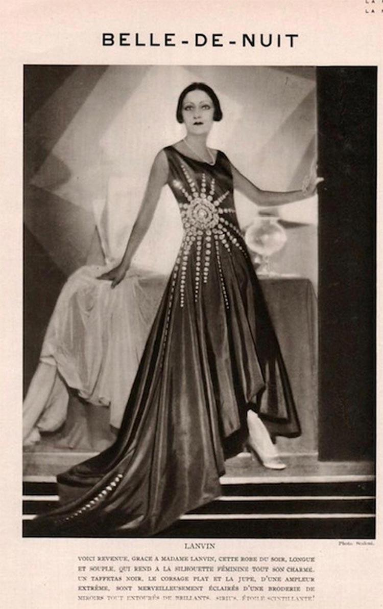 """jeanne Lanvin's 1928 black taffeta """"Bel Oiseau"""""""