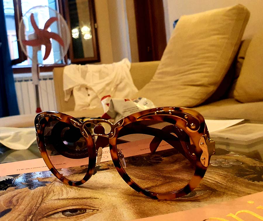 red Prada Baroque Limited Edition made In Italy