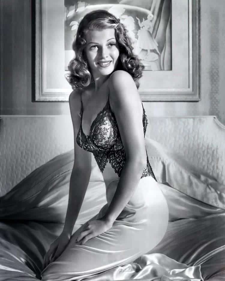 Actress Ava Gardner – a 1940s pin-up star. lingerie