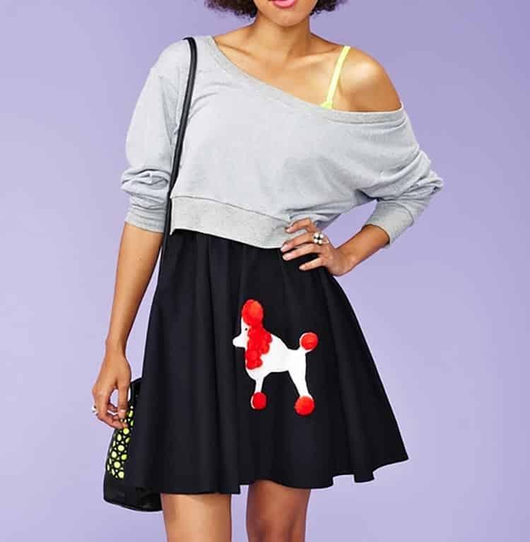 Modern poodle skirt