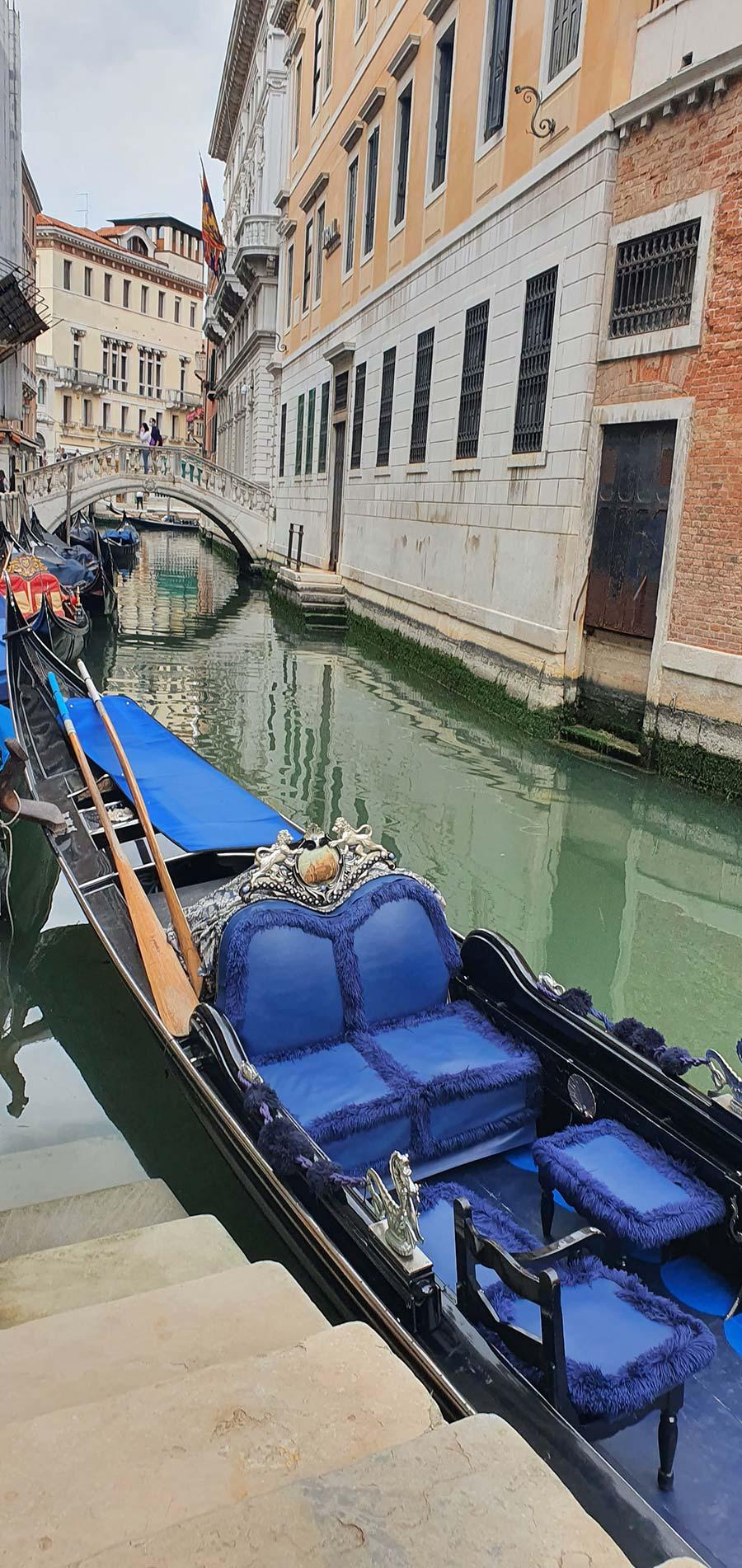 Interior design of a Gondola Venice