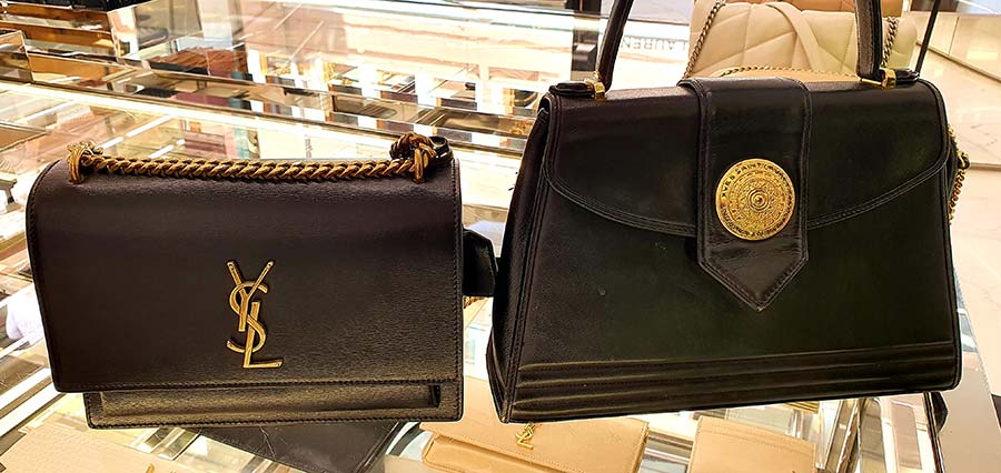 Yves Saint Laurent Vintage and 2021 collection