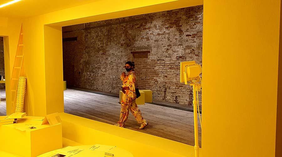 la biennale venice yellow interior design