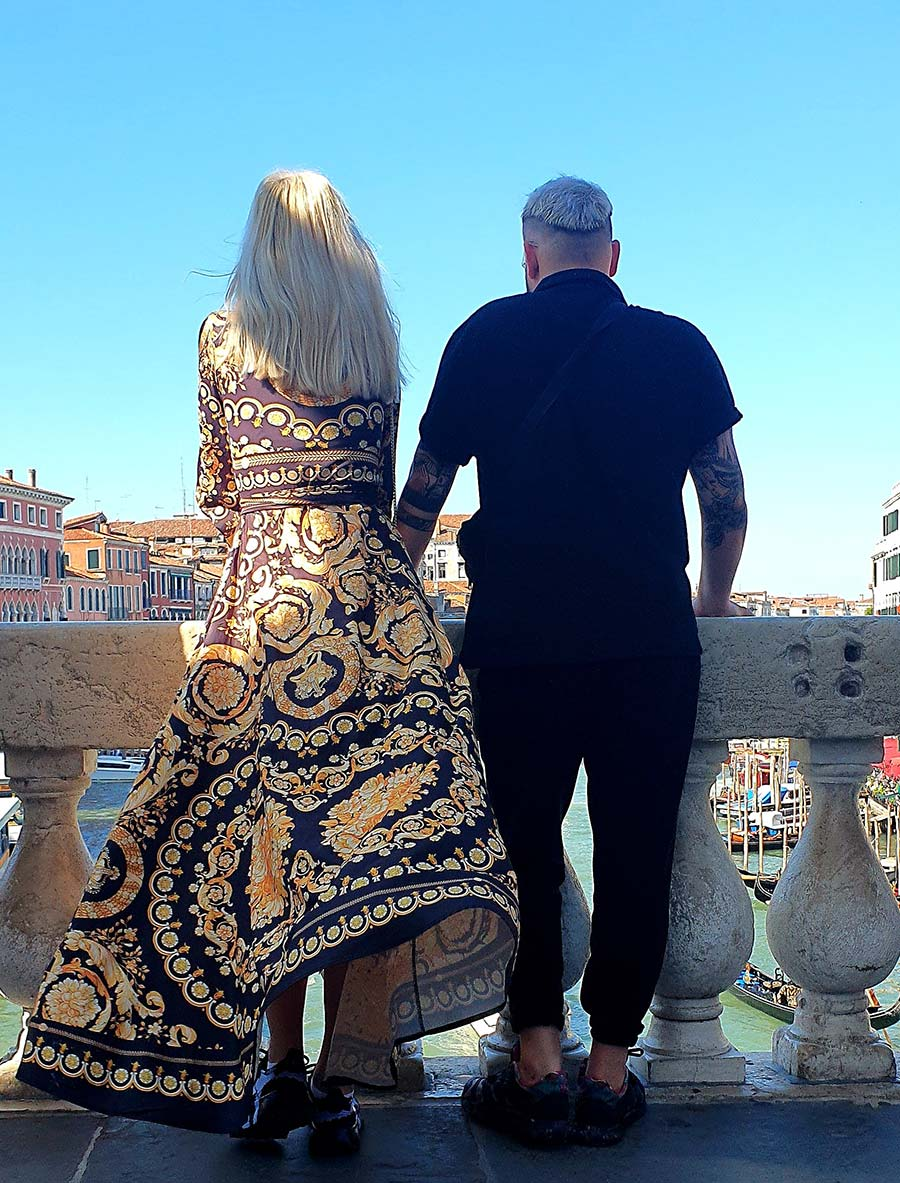 Versace Print Venice made in italy rialto bridge 2021