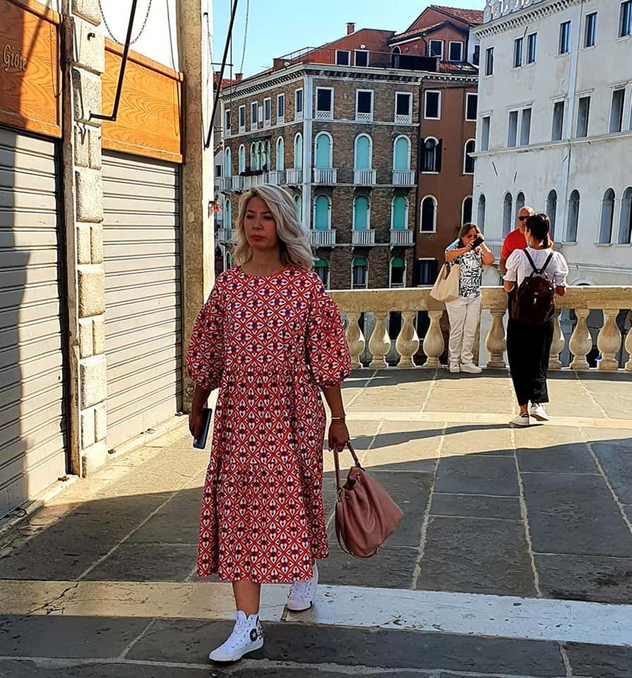 pink frills venice maxi dress