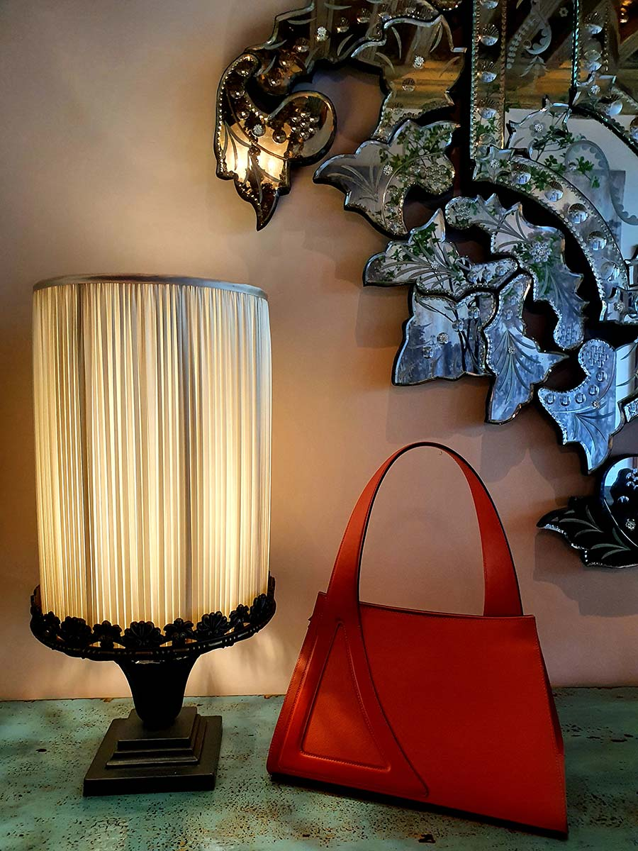 Michele De Fine Aragosta orange leather bag Gracie Opulanza made initaly (3)