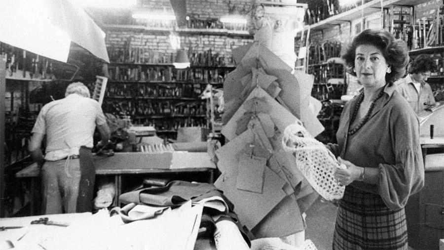Roberta Di Camerino Gondola clutch bags venice vintage interwoven leather lace