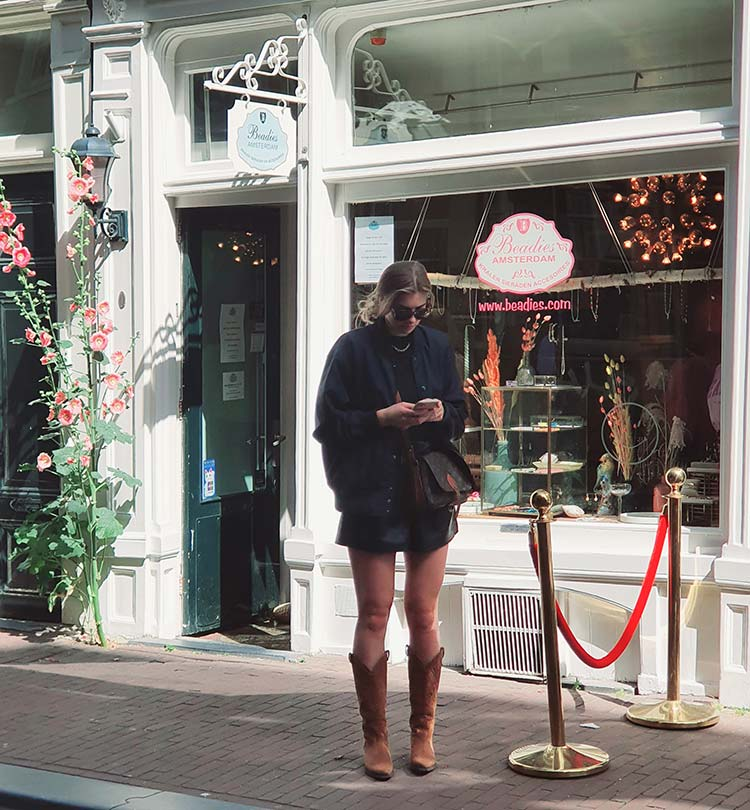 Brown suede Cowboy boots Amsterdam